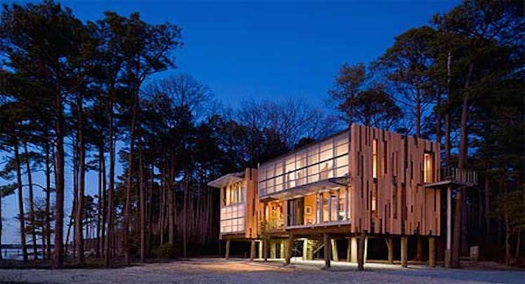 בניית בתי עץ – בית עץ מרחף של טימברלייק אדריכלים